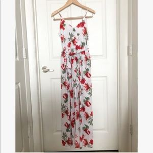 Floral romper with maxi overlay, S